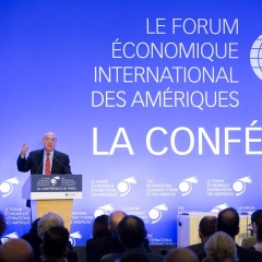 The International Economic Forum of the Americas. The Conference of Paris in the OECD in Paris. Angel Gurria, secretary general Organisation for Economic Co-operation