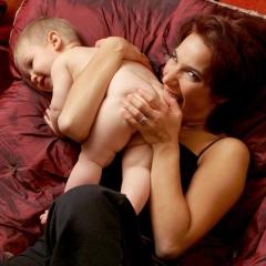 Marie Fugain et son fils Elliot