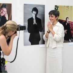 """""""Intérieur Jour"""" exposition de photos de Manuelle Toussaint au Grimaldi Forum lors du Festival de Télévision de monte Carlo 2006."""