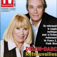 Mireille Darc et Alain Delon dans TV Magazine