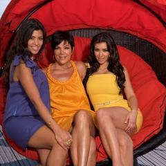 Kourtney Kardashian, la maman Kris Jenner et Kim Kardashian